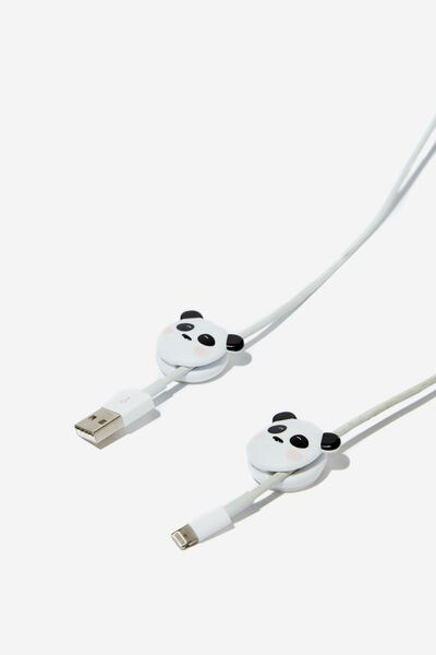 Novelty Cable Pinch 2 Pack, PANDA