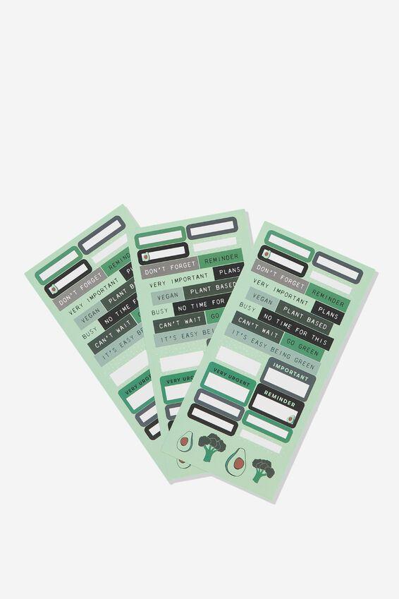 Sticker Pack, AVOCADO