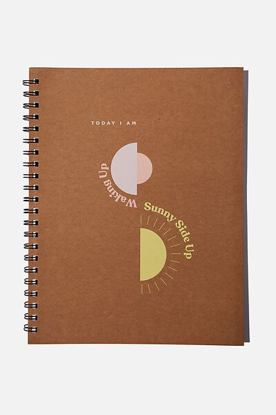 A4 Campus Notebook Recycled, SUNNY SIDE UP