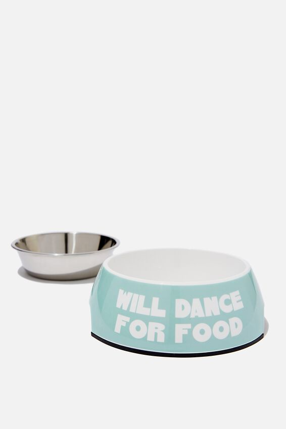 Medium Pet Bowl, WILL DANCE