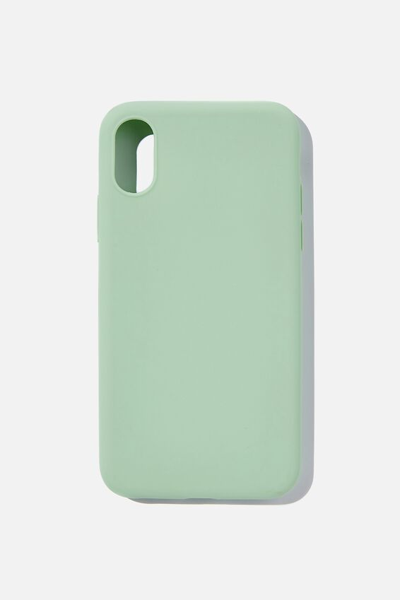 Recycled Phone Case iPhone X, Xs, MINT LEAF