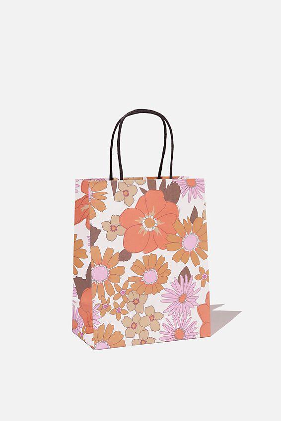 Get Stuffed Gift Bag - Small, PINK ORANGE STEVIE FLORAL