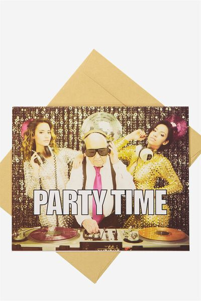Funny Birthday Card, DJ PARTY TIME