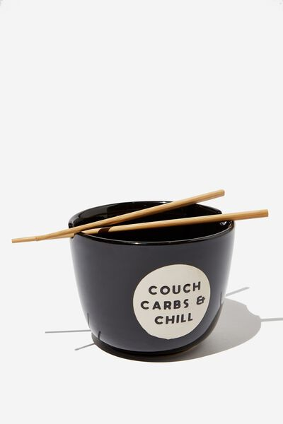 Novelty Noodle Bowl, COUCH CARBS & CHILL