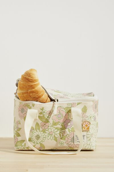 BYO Lunch Bag, MINT PINK MOLLY FLORAL
