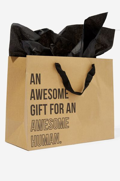 Medium Gift Bag with Tissue Paper, AWESOME GIFT