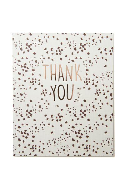 Thank You Card, THANK YOU SPOT