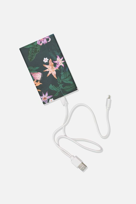 Printed Charge It Charger, JUNGLE FLORAL