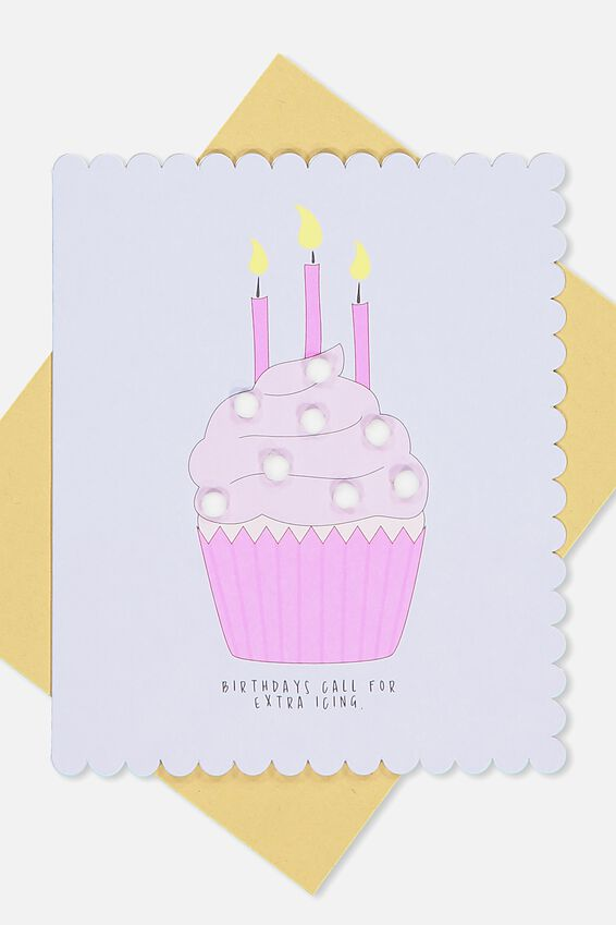 Premium Nice Birthday Card, POM POM EXTRA ICING