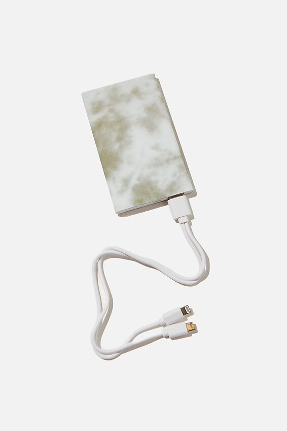 Printed Charge It Charger, SPACEY TIE DYE COOL GREY