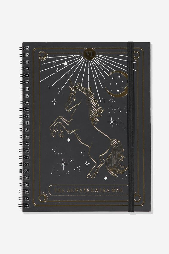A5 Spinout Notebook Dot Page, UNICORN EXTRA