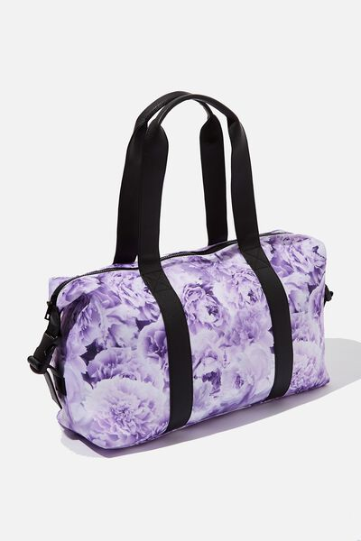 Convertible Overnight Bag, LILAC FLORAL