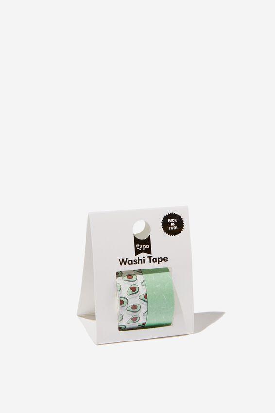 Washi Tape 2Pk, AVOCADO