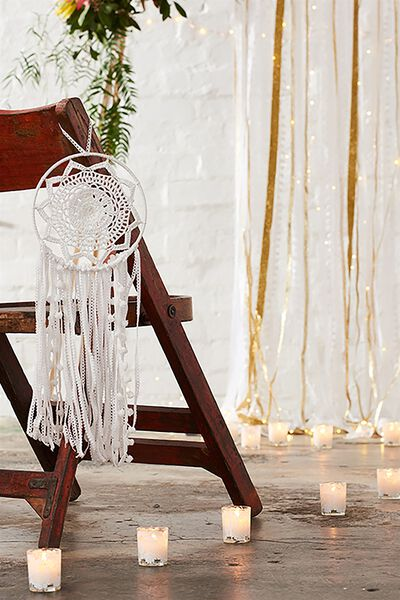 Medium Dream Catcher, WHITE LACE