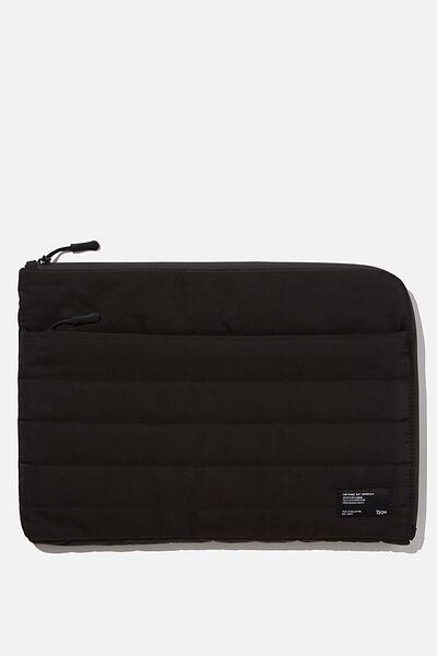 Utility 13 Inch Laptop Case, BLACK & GREY