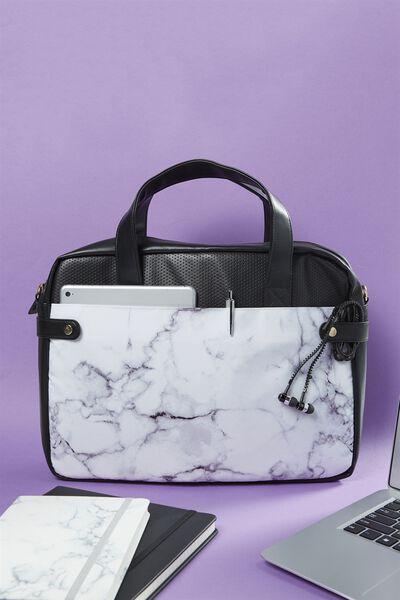 Varsity Laptop Bag, MARBLE