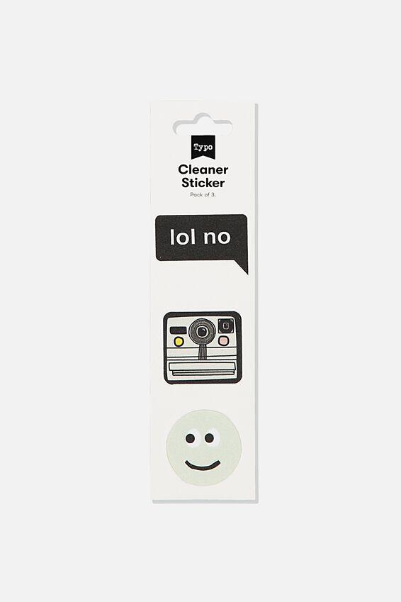 Cleaner Sticker, SMILEY