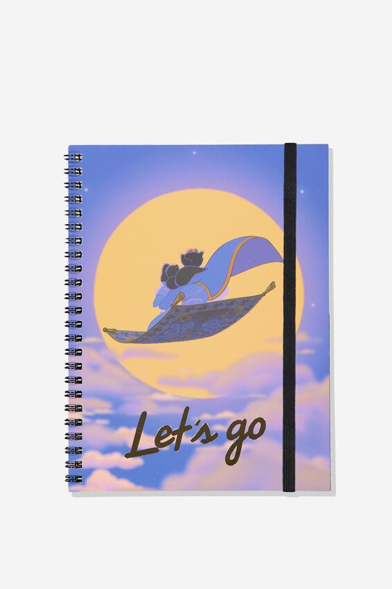 A5 Aladdin Spinout Notebook - 120 Pages, LCN DIS ALADDIN AND JASMINE