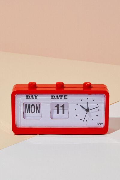 Retro Flip Clock, RED