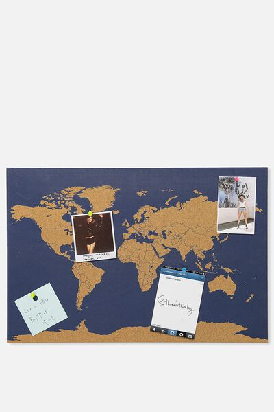 Wall art canvas art prints more typo what a corker cork board navy map gumiabroncs Gallery
