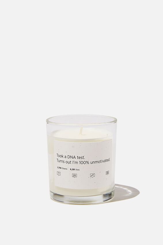 Talk To Me Candle Small, 100% UNMOTIVATED