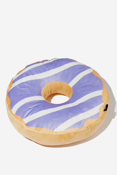 Premium Get Cushy Cushion, LIT UP DONUT