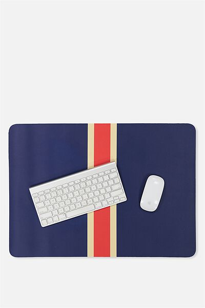 A2 Jumbo Mouse Pad, NAVY & RED STRIPE