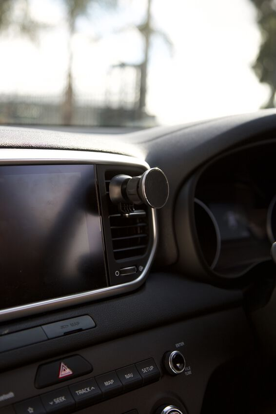 Car Phone Mount, BLACK RUBBERISED