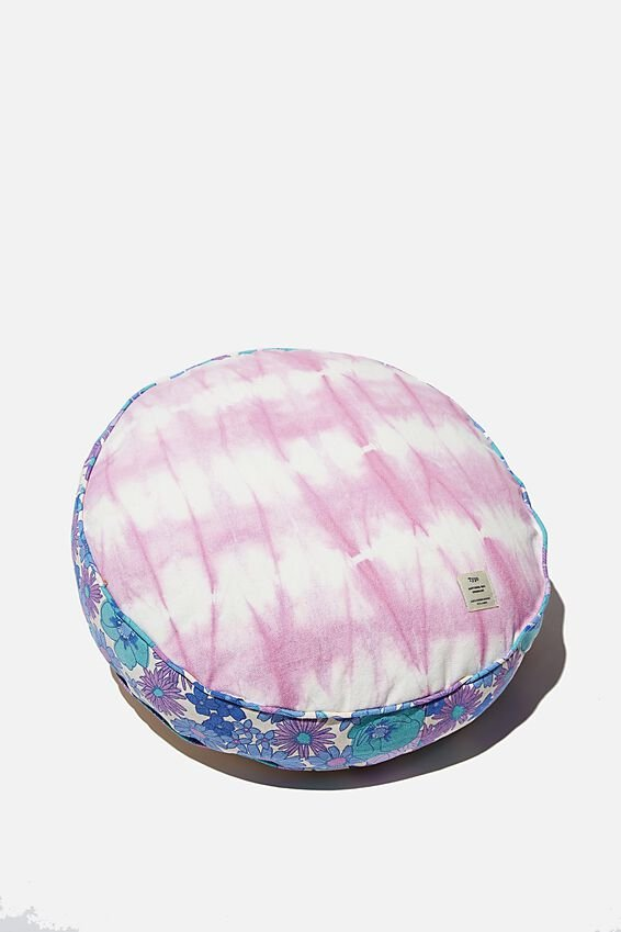 Canvas Cushy Cushion, CIRCLE PATCHWORK