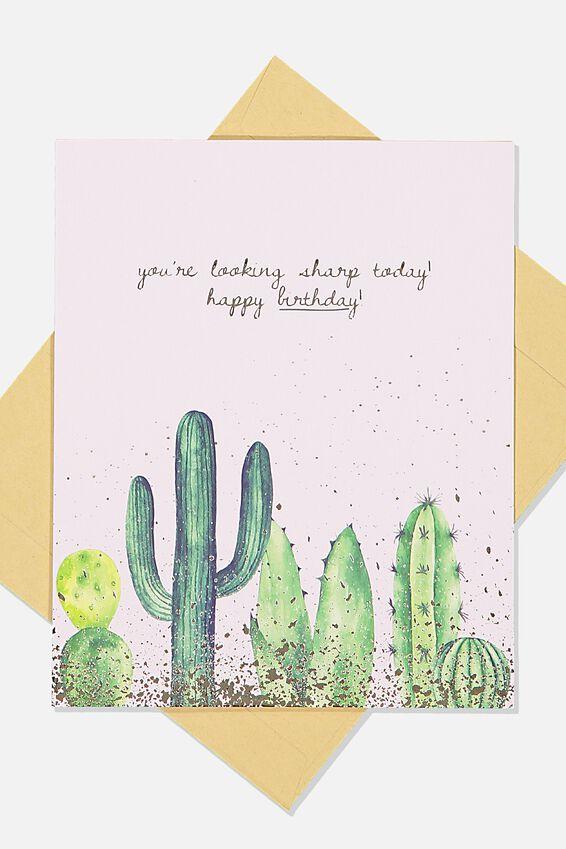 Nice Birthday Card, SHARP CACTUS BIRTHDAY