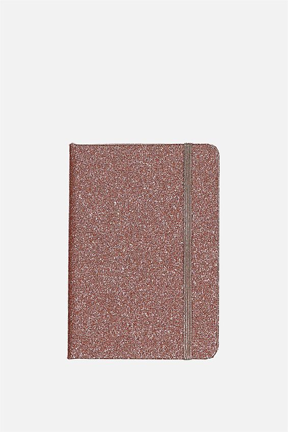A6 Buffalo Journal, ROSE GOLD GLITTER