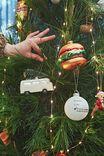 Glass Christmas Ornament, VAN WITH TREE