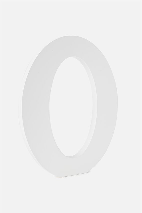 Large Letterpress Letter, WHITE O