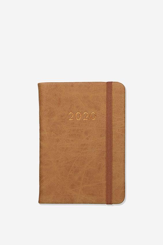 2020 A6 Weekly Buffalo Diary, MID TAN