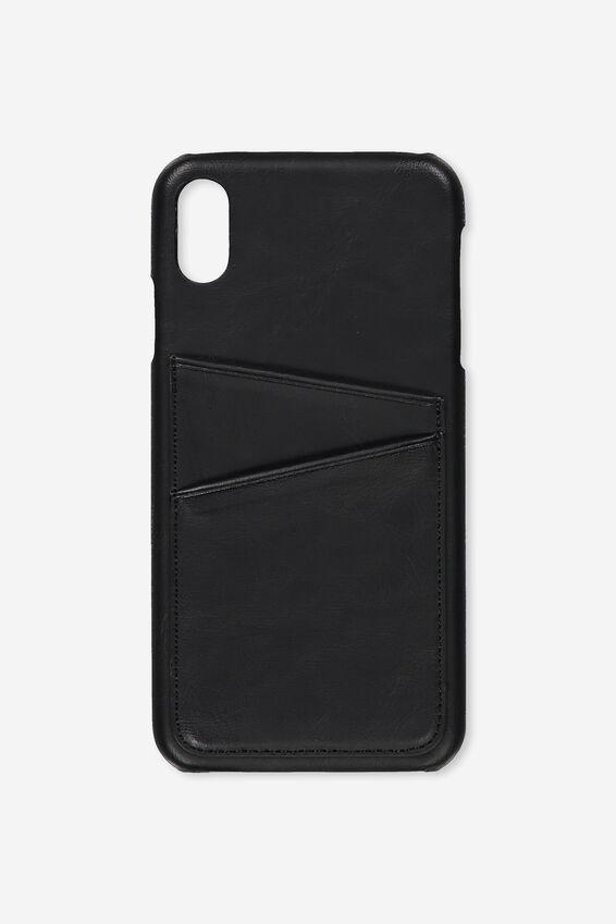 Cardholder Phone Case Iphone Xs Max, BLACK