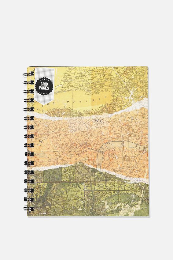 A5 Campus Notebook Grid Internal, SPLICED MAP