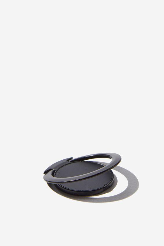 Ultra Thin Phone Ring, BLACK RUBBERISED