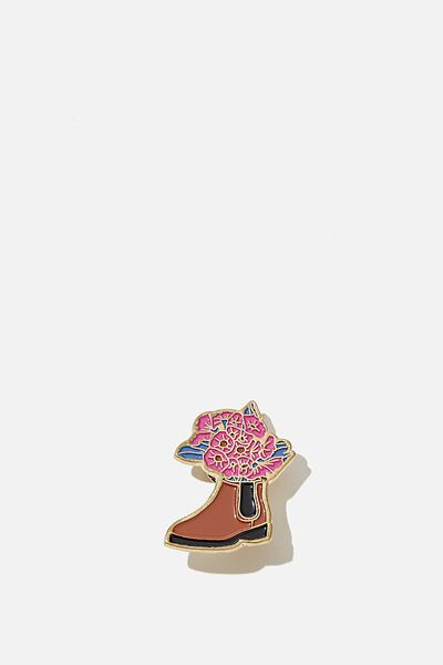 Enamel Badges, FLORAL BOOT