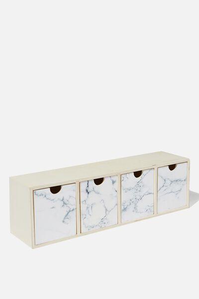 Quick Desk Drawer Storage, MARBLE