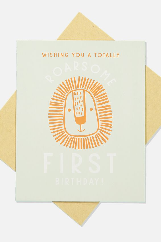 Age Card, ROARSOME FIRST BIRTHDAY