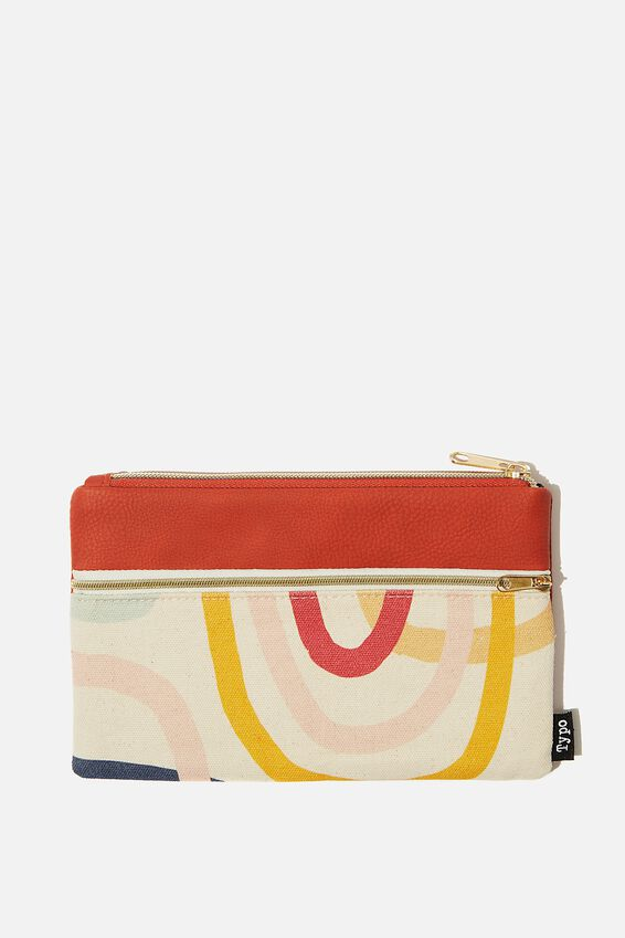 Archer Pencil Case, MULTICOLOURED SWIRL