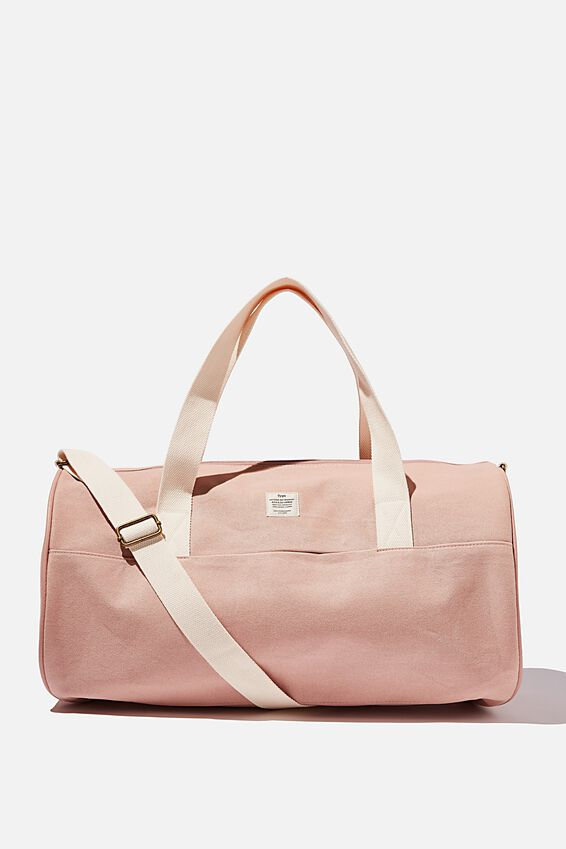 Canvas Barrel Bag, NUDE PINK
