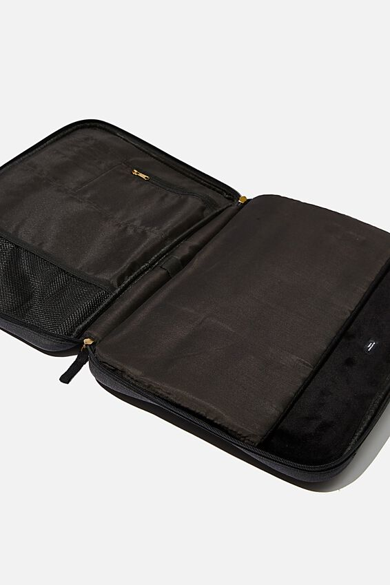 Canvas Folio 15 Inch Laptop Folio, WASHED BLACK