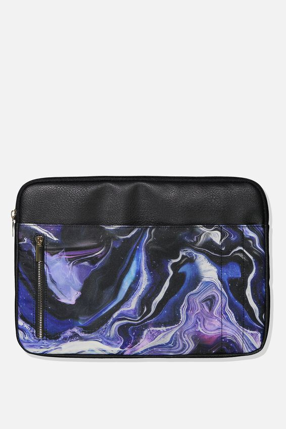 Take Charge Laptop Cover 13 inch, MOON MARBLE