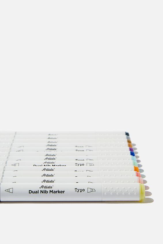 Artists Dual Nib Marker 12Pk, PASTEL