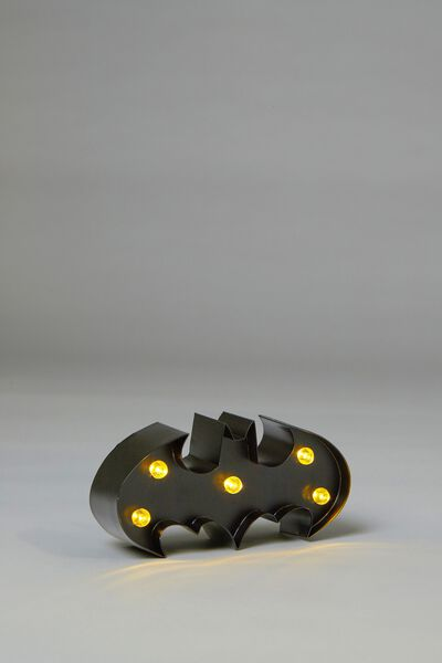 Shaped Mini Marquee Light, LCN BATMAN BLACK