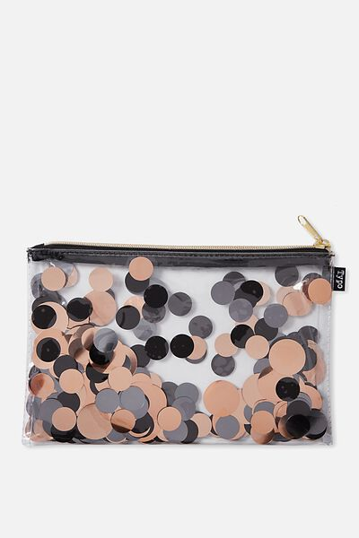 Confetti Pencil Case, BLACK MULTI