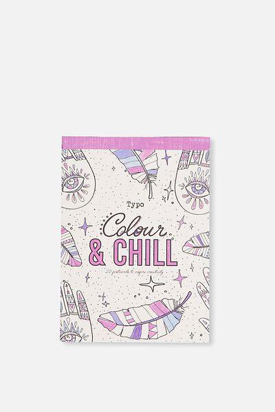 Post Card Colouring Book, BOHO
