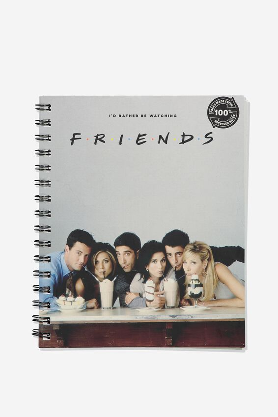 A5 Friends Campus Notebook Recycled, LCN WB FRIENDS MILKSHAKE