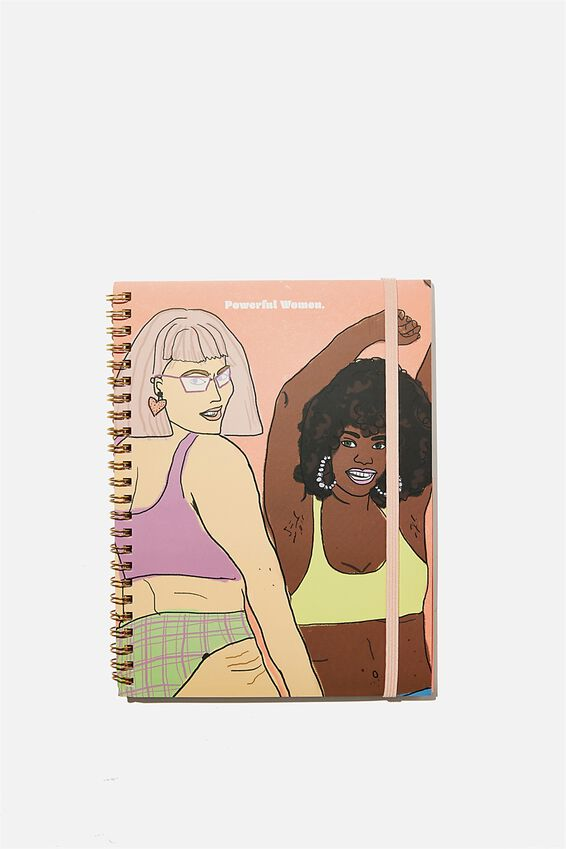 A5 Spinout Notebook Recycled, POWERFUL WOMEN